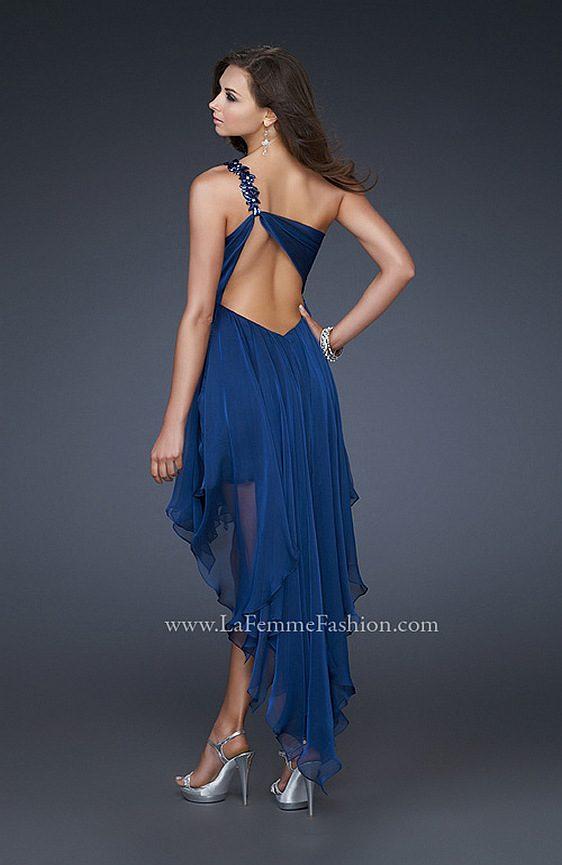 Spoločenské šaty La Femme 16924 fialová farba