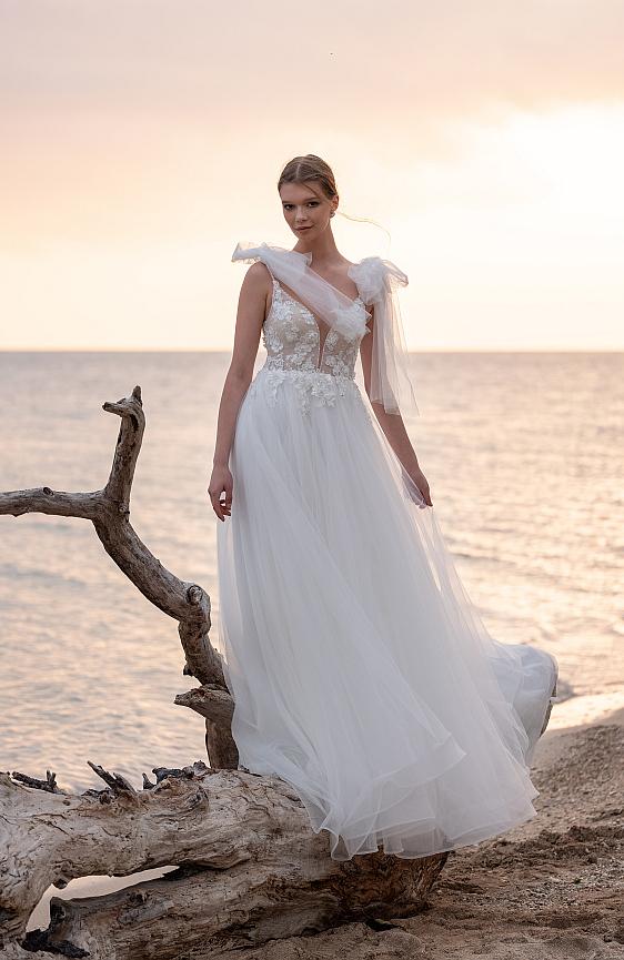 Svadobné šaty s ramienkami bohémske