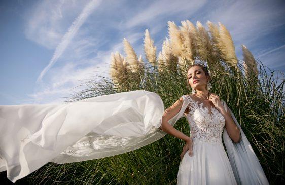 Svadobné šaty s dlhými rukávmi